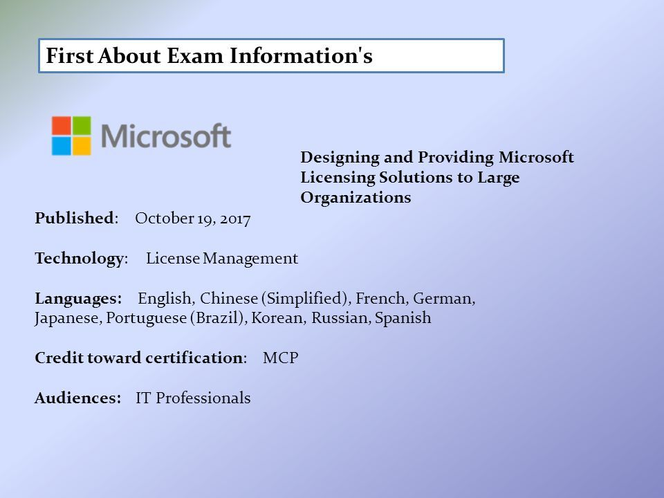 Designing And Providing Microsoft Licensing Solutions To Large