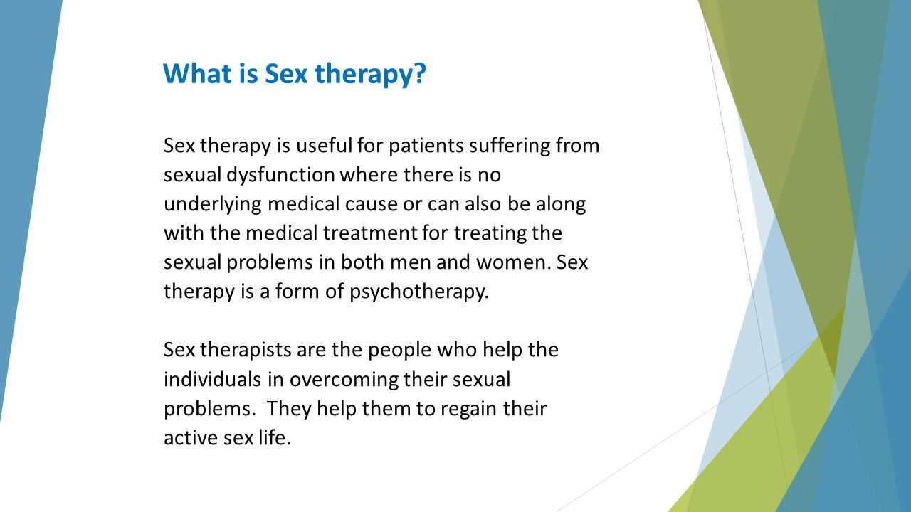 Active dysfunctions new sex sexual therapy treatment
