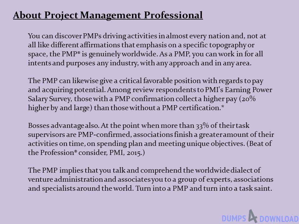 Project Management Professional Pmp Dumps Pdf Pmp Dumps Pmp Exam