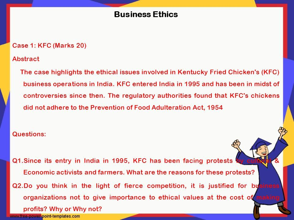 kfc ethical issues 2018