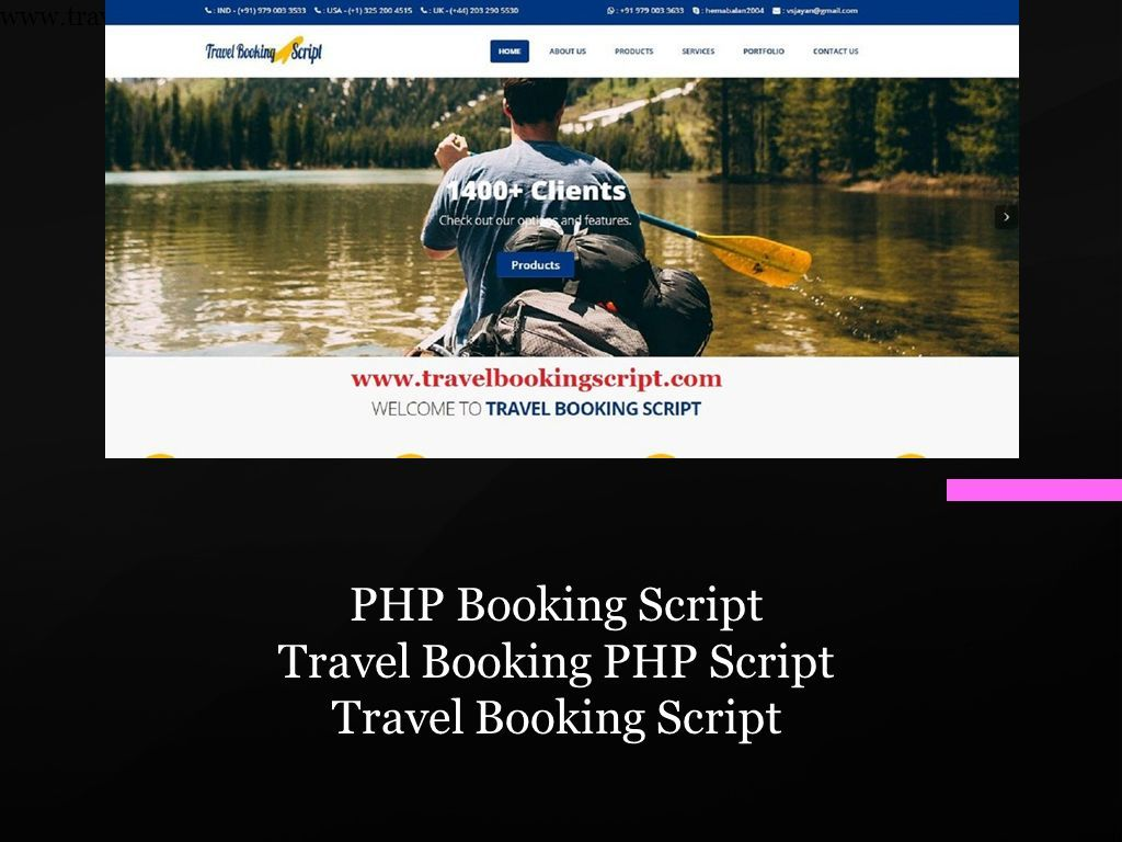 PHP Booking Script Travel Booking PHP Script Travel Booking Script