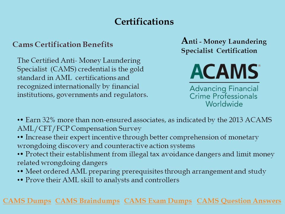 Association Of Certified Anti Money Launderying Specialist Cams