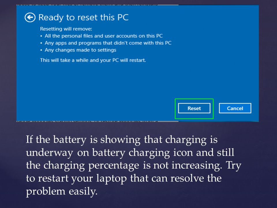 Troubleshoot HP Laptop Charging Problem - ppt download