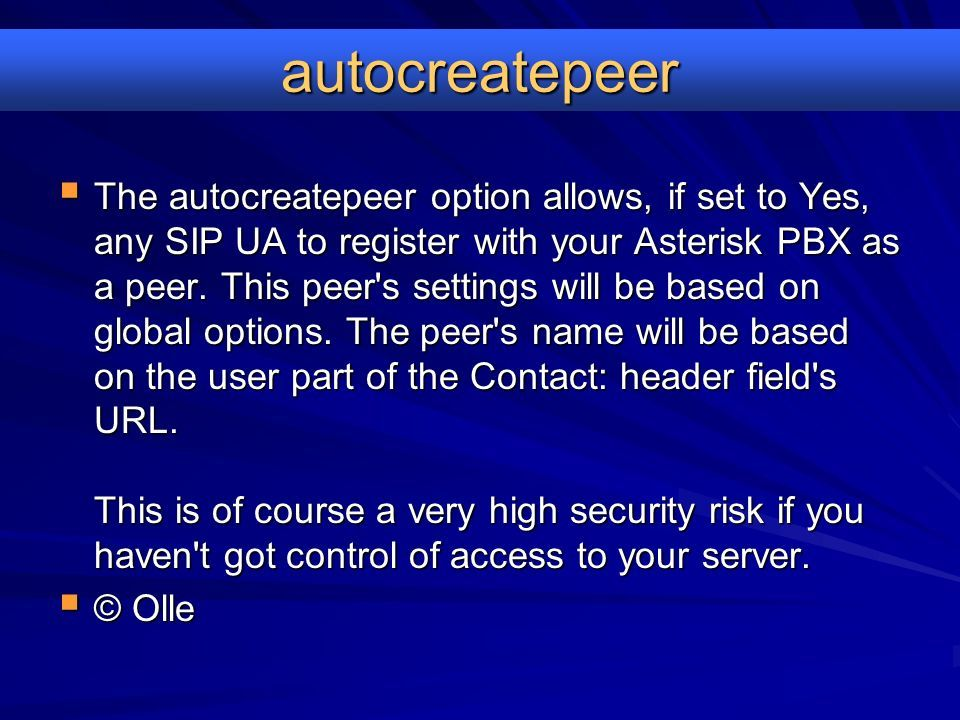 Asterisk Stability & Security Protect your investment  - ppt