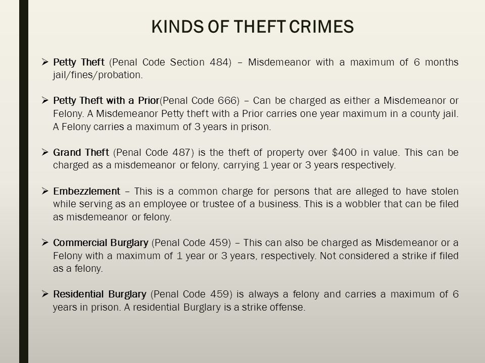 THEFT CRIMES LAW OFFICES OF SUE SAHAMI At the Law Offices of