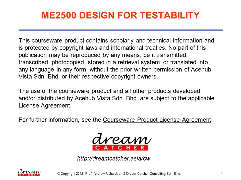 ME40 DESIGN FOR TESTABILITY [Slide 40] DfT Structures For Delay Extraordinary What Do Dream Catchers Mean