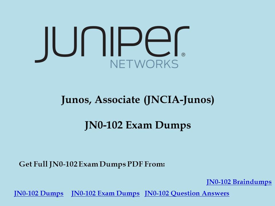 JNCIA 102 DUMPS EBOOK