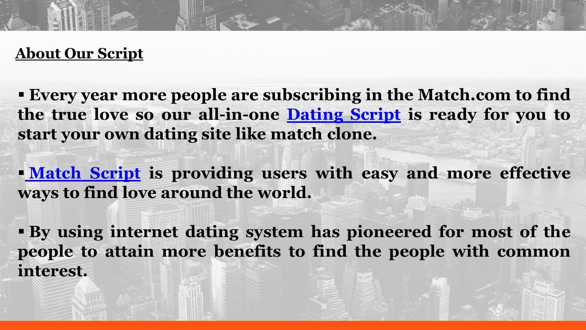 Internet dating providings