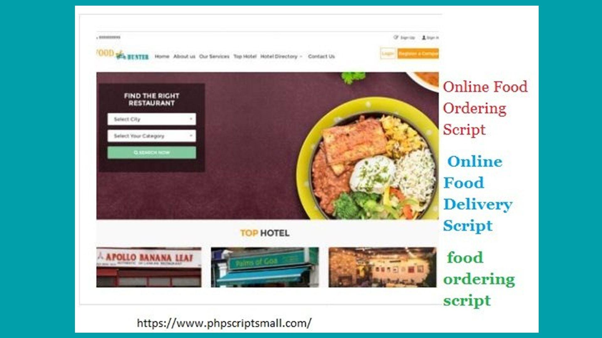 ONLINE FOOD ORDERING SCRIPT | ONLINE FOOD DELIVERY SCRIPT