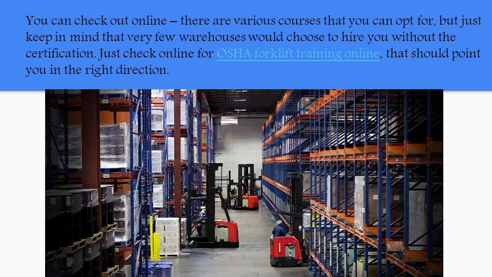 Forklift Training What To Expect Ppt Download