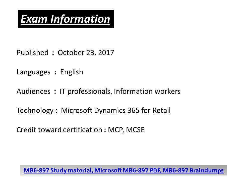 Microsoft Mb6 897 Unique Questions Microsoft Mb6 897 Dumps Download