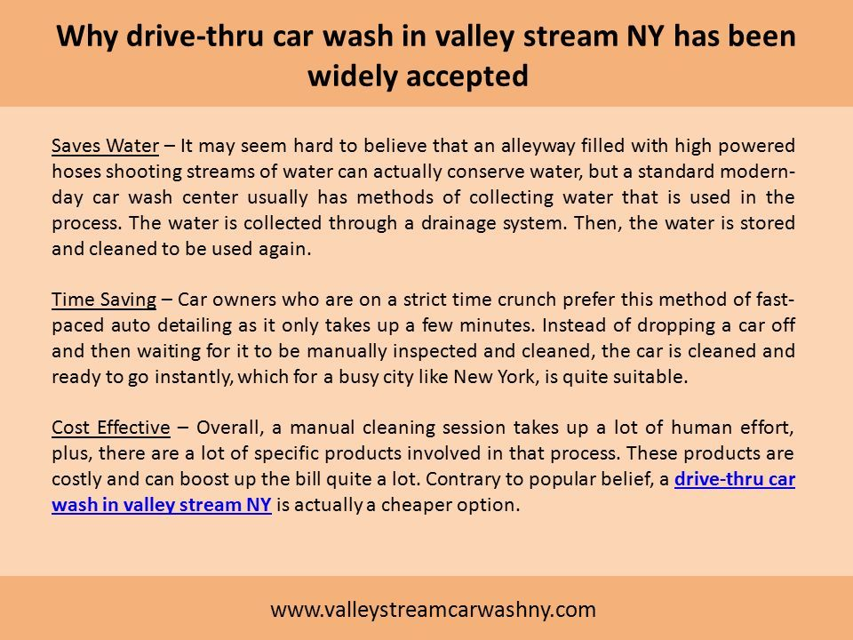 Advantages and Disadvantages of Drive-thru car wash - ppt