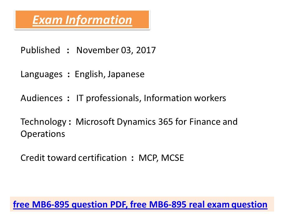 100% Passing Guarantee Free MB6-895 Microsoft Exam Dumps