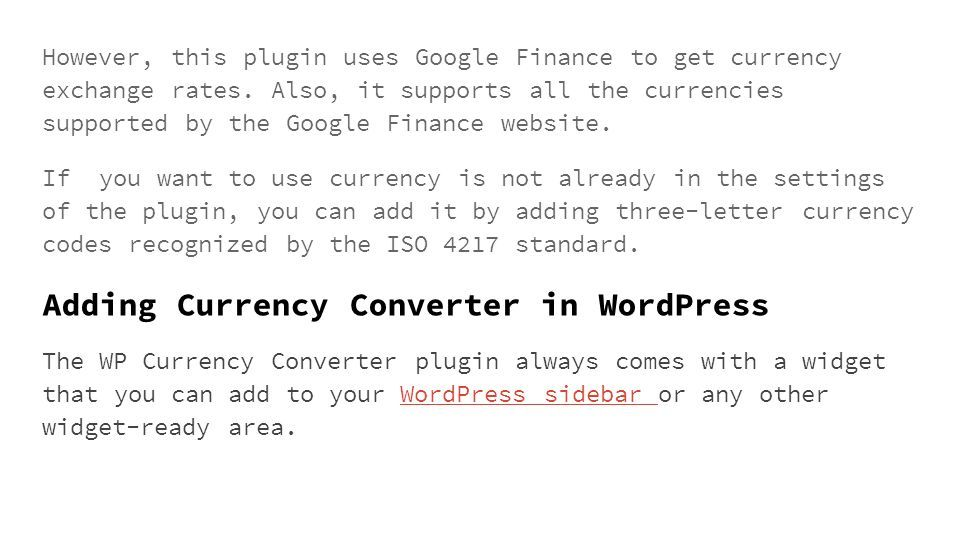 How to Add Currency Converter in WordPress Have you ever