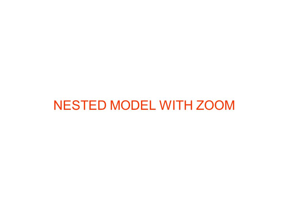 NESTED MODEL WITH ZOOM