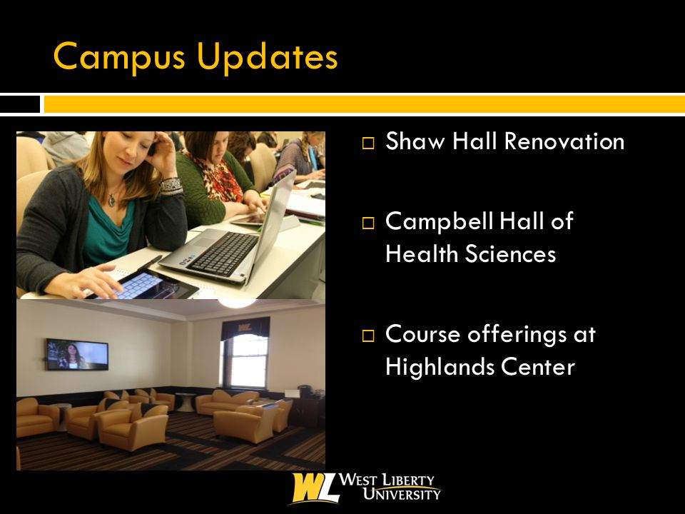 Campus Updates  Shaw Hall Renovation  Campbell Hall of Health Sciences  Course offerings at Highlands Center