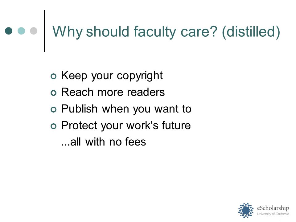 Why should faculty care.