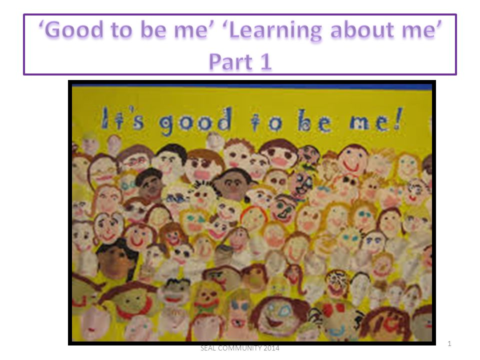 Good to be me/Learning about me SEAL COMMUNITY 2014 1