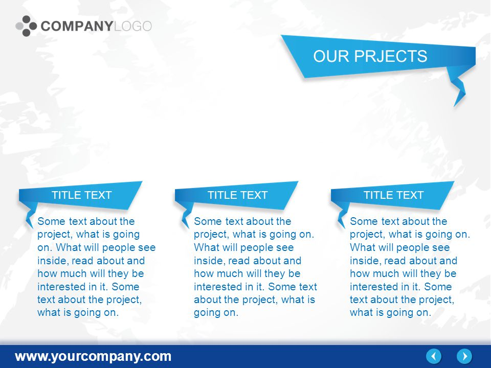 www.yourcompany.com Some text about the project, what is going on.
