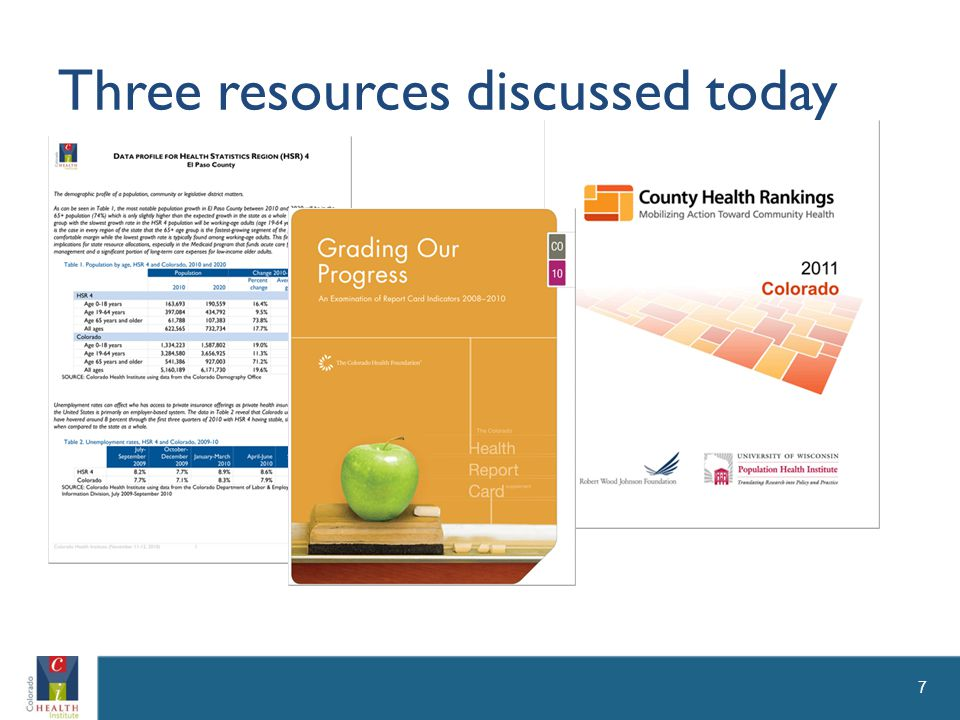 Three resources discussed today 7