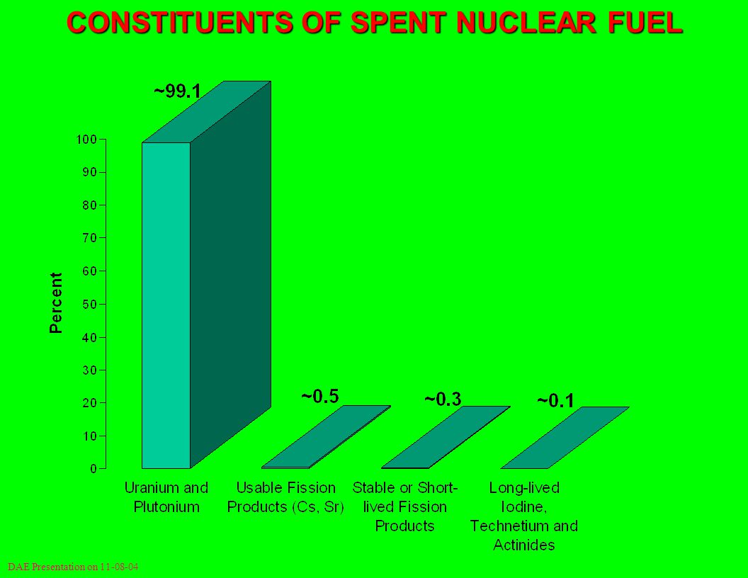 CONSTITUENTS OF SPENT NUCLEAR FUEL DAE Presentation on 11-08-04
