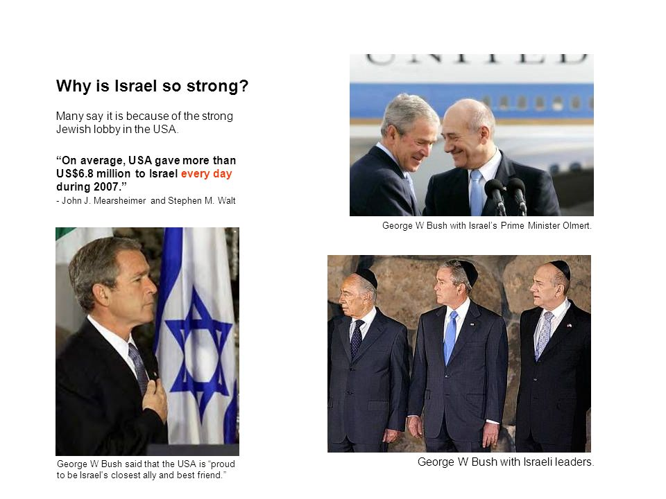 Why is Israel so strong.