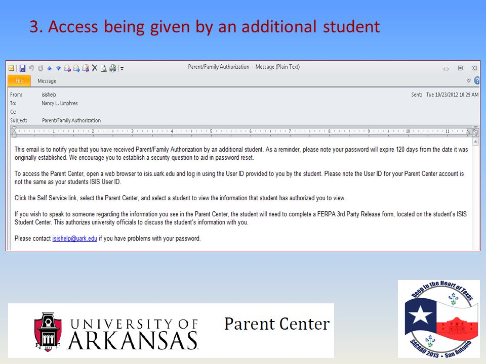 3. Access being given by an additional student