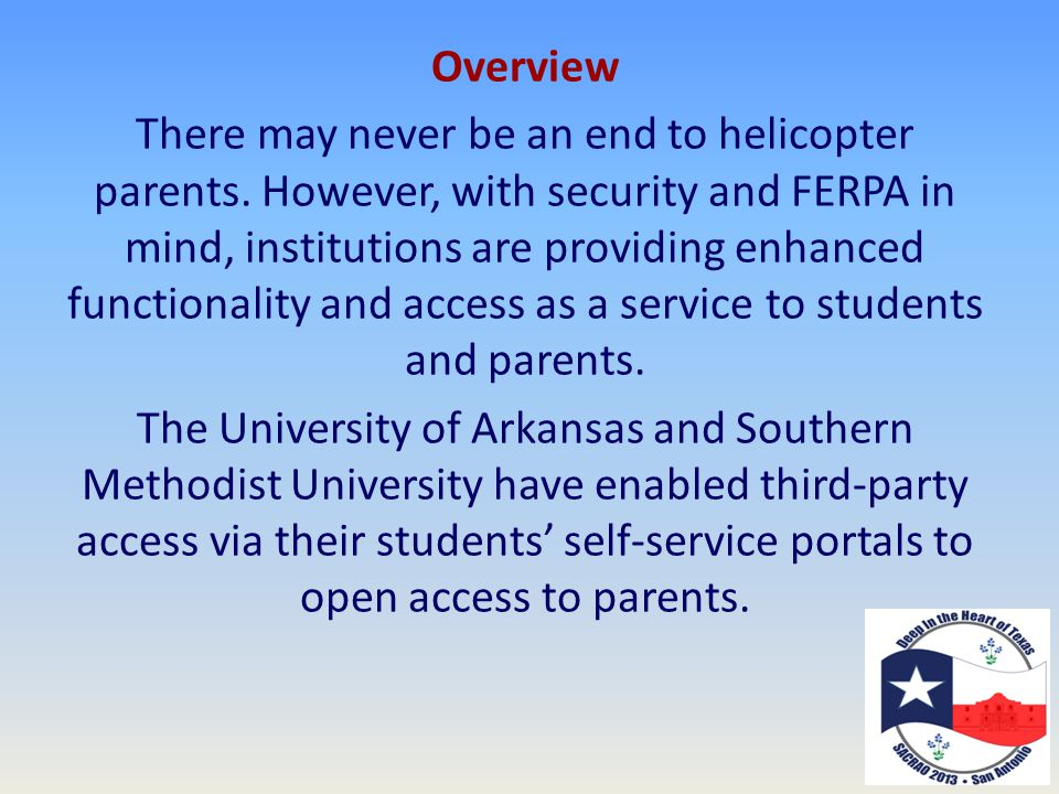 Overview There may never be an end to helicopter parents.