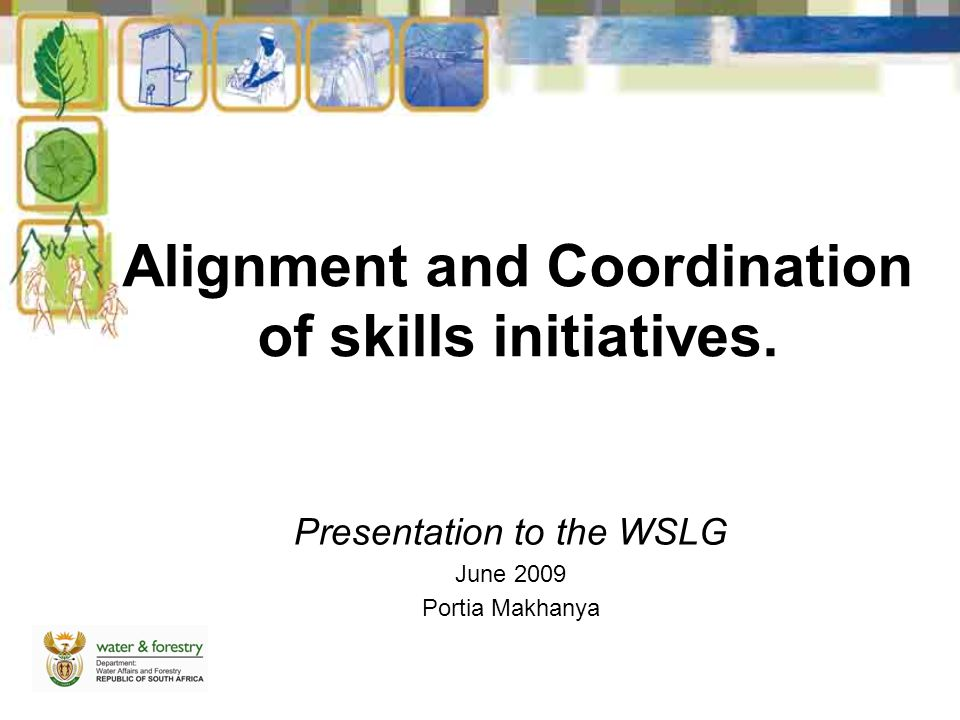 Alignment and Coordination of skills initiatives.