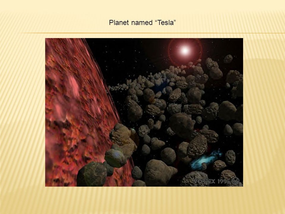 Planet named Tesla