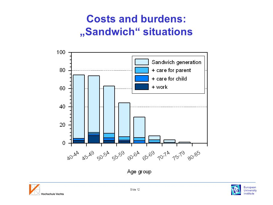 "European University Institute Slide 12 Costs and burdens: ""Sandwich situations"