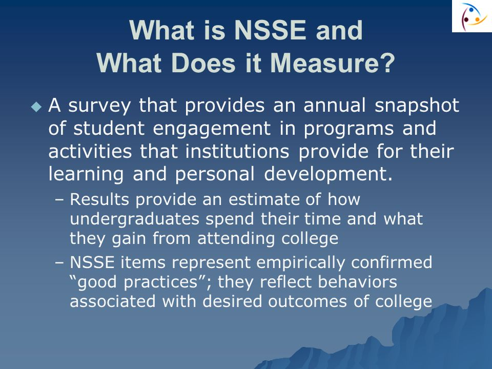 What is NSSE and What Does it Measure.