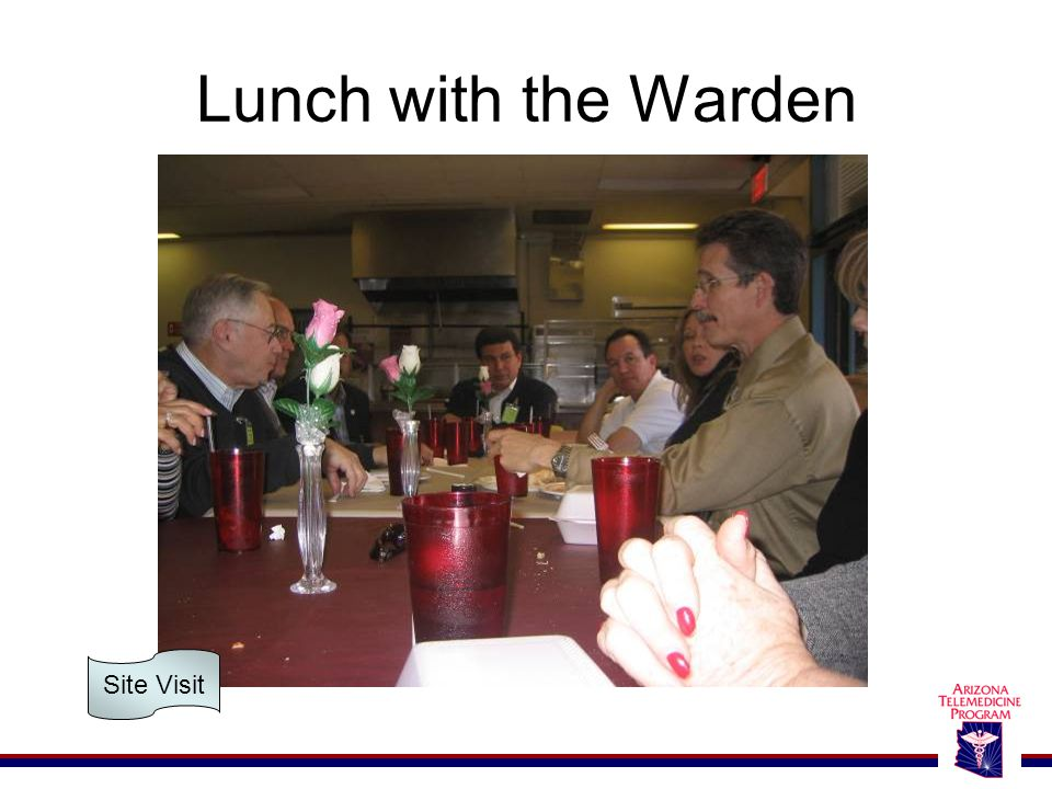 Lunch with the Warden Site Visit