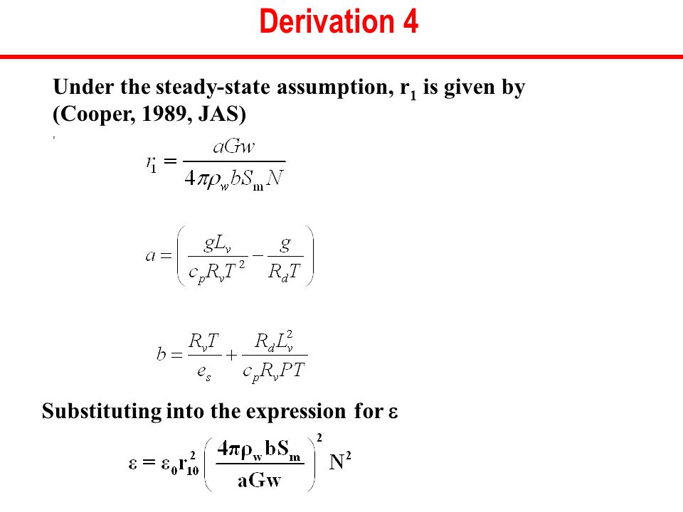 Derivation 4 Under the steady-state assumption, r 1 is given by (Cooper, 1989, JAS), Substituting into the expression for 