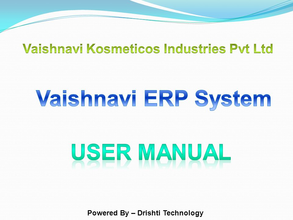 Powered By – Drishti Technology