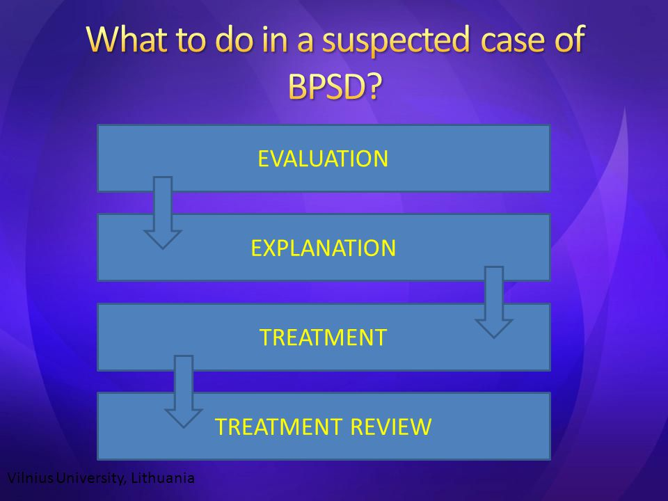 EXPLANATION TREATMENT EVALUATION TREATMENT REVIEW