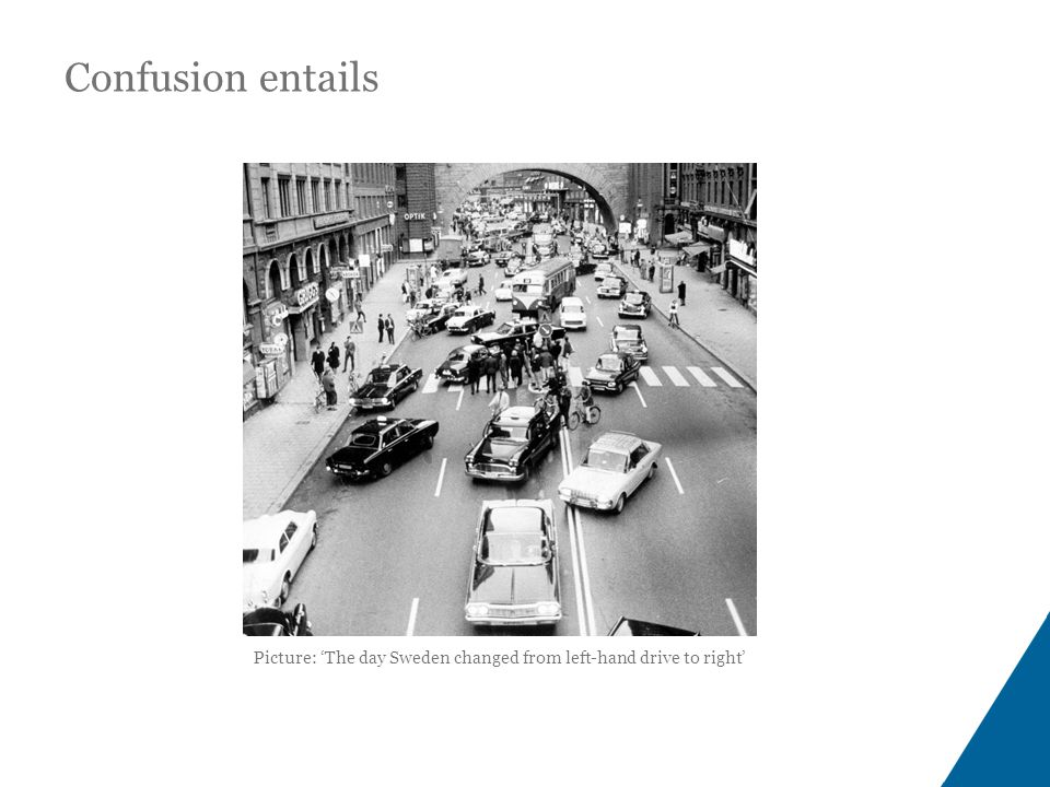 Picture: 'The day Sweden changed from left-hand drive to right' Confusion entails