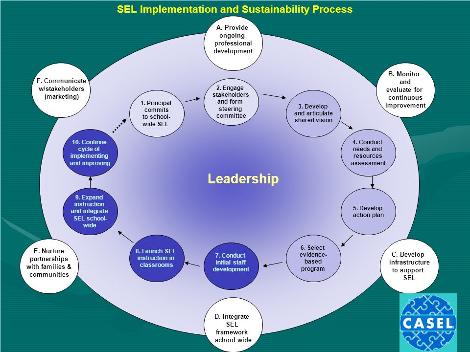 SEL Implementation and Sustainability Process E.