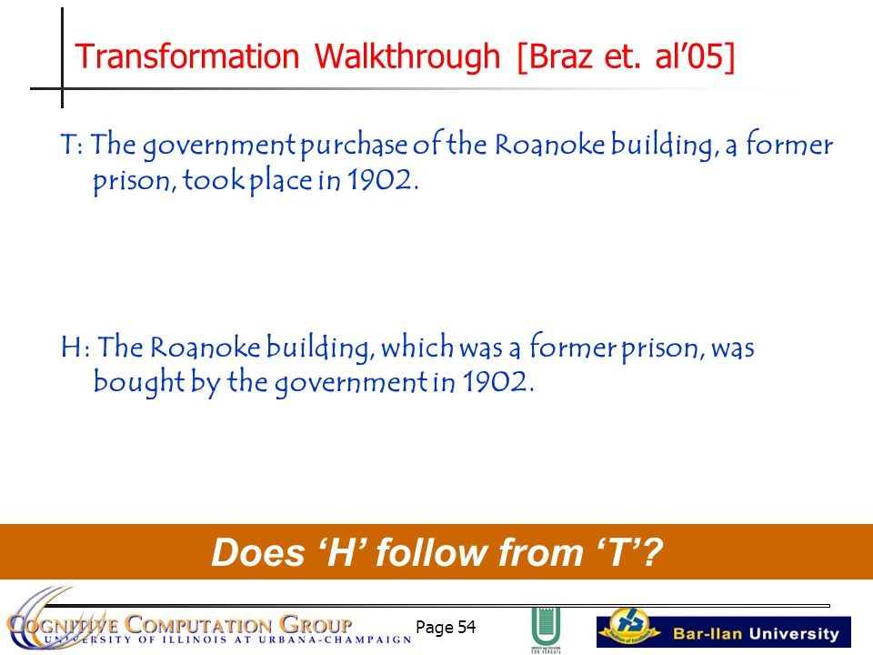 Page 54 Transformation Walkthrough [Braz et.
