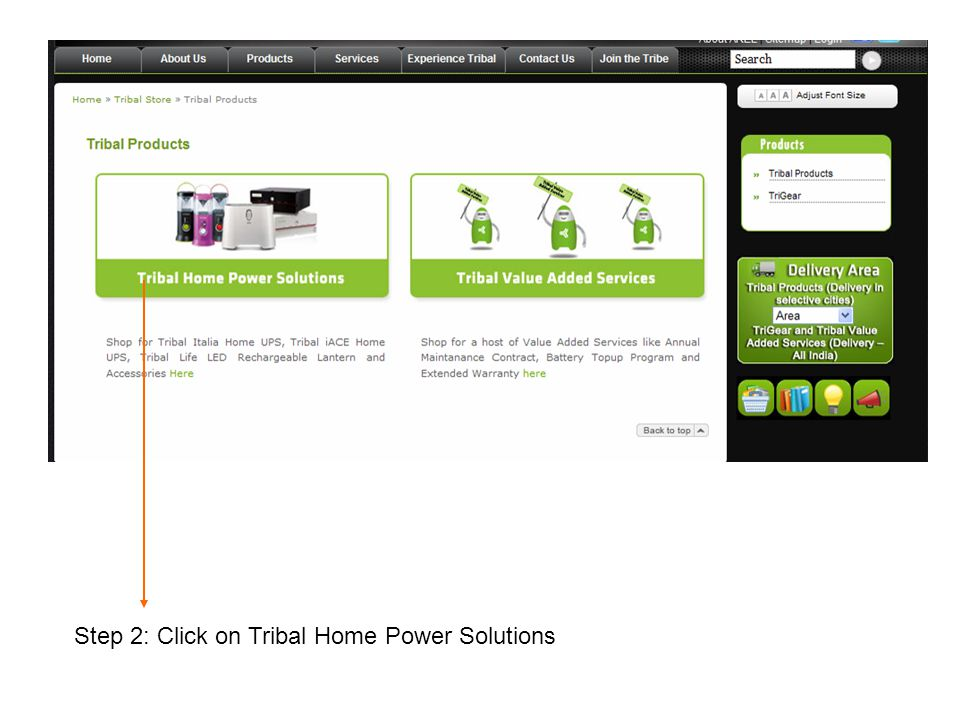 Step 2: Click on Tribal Home Power Solutions