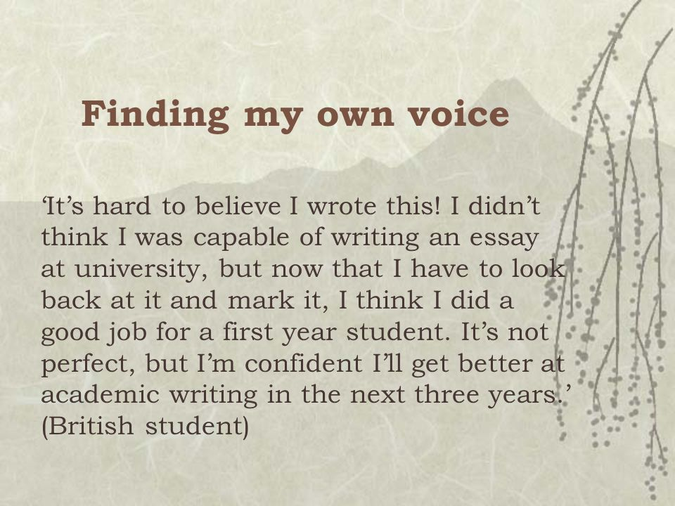 Finding my own voice 'It's hard to believe I wrote this.