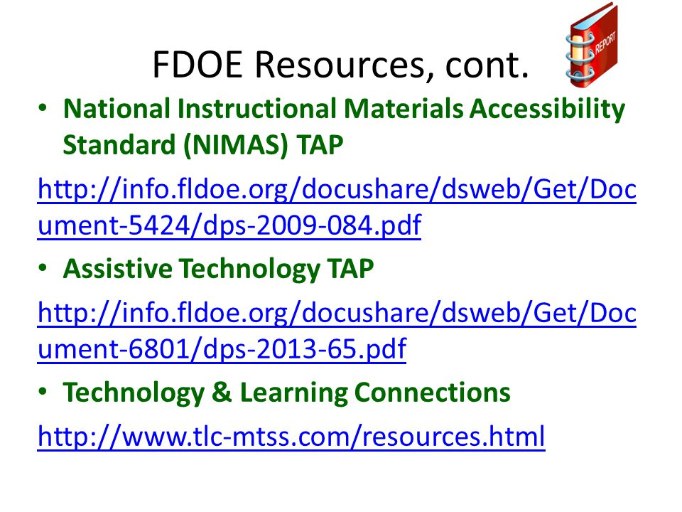 FDOE Resources, cont.