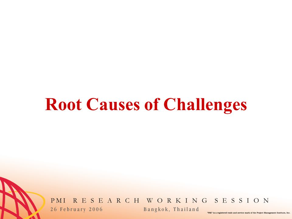 Root Causes of Challenges