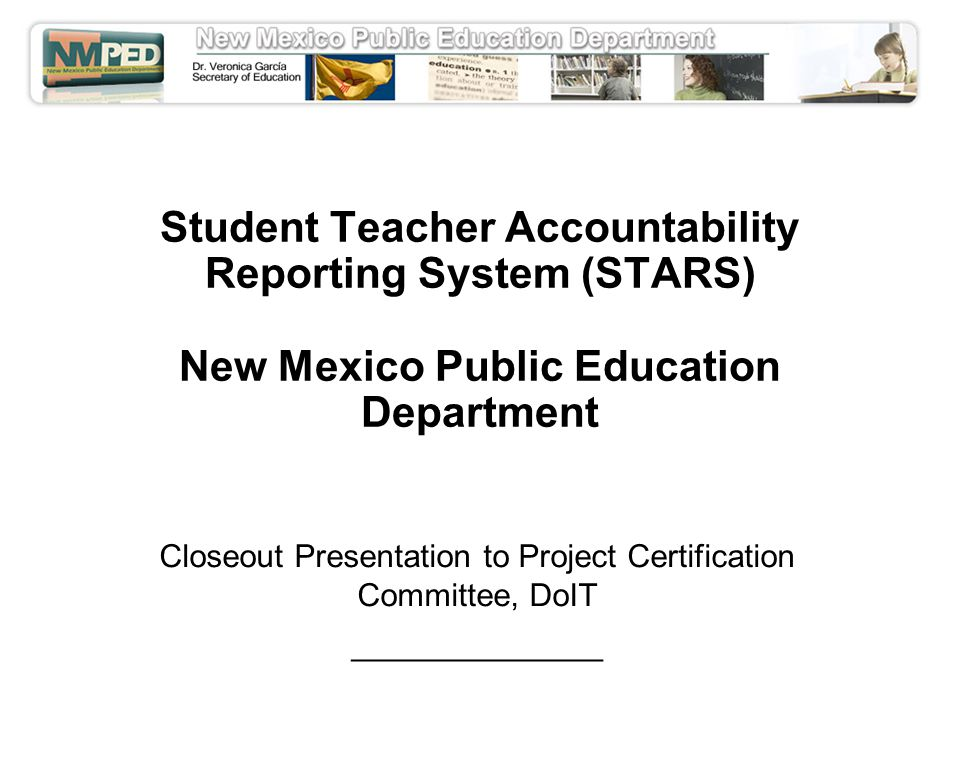 Student Teacher Accountability Reporting System Stars New Mexico