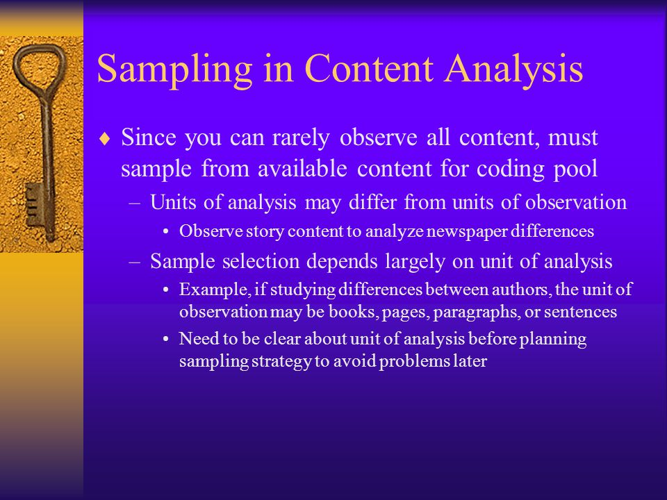unit of analysis in research methodology example