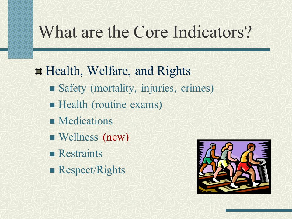 What are the Core Indicators.