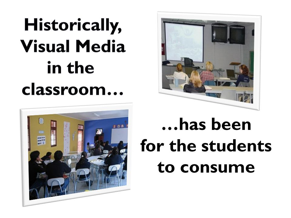 …has been for the students to consume