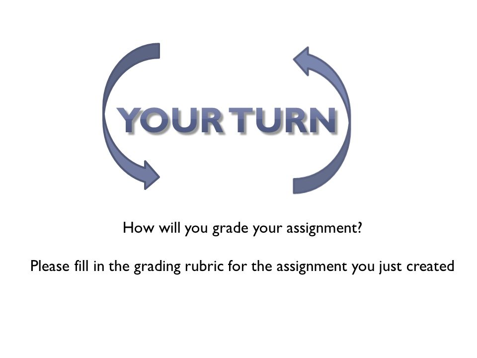How will you grade your assignment.