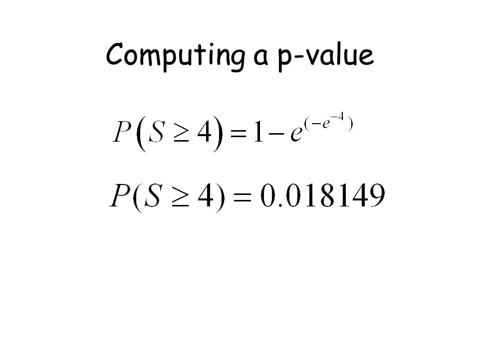 Computing a p-value