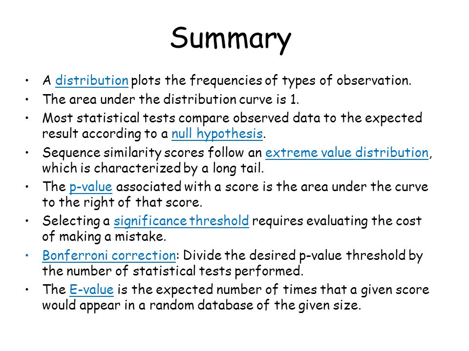 Summary A distribution plots the frequencies of types of observation.